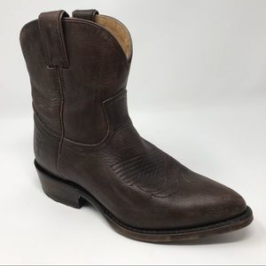 Frye Womens Billy Short Ankle Boots Brown